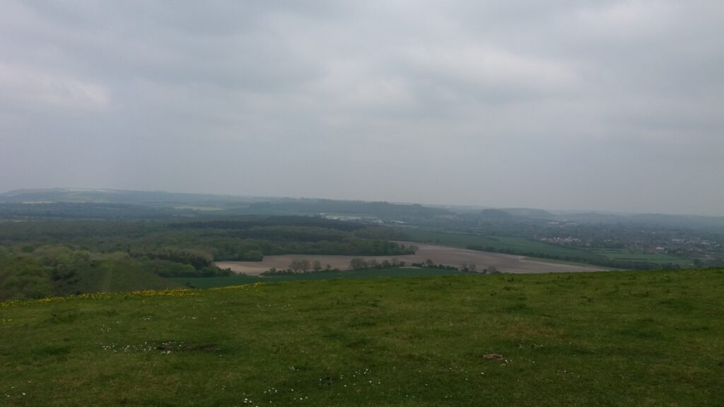 View from the top of Cley Hill