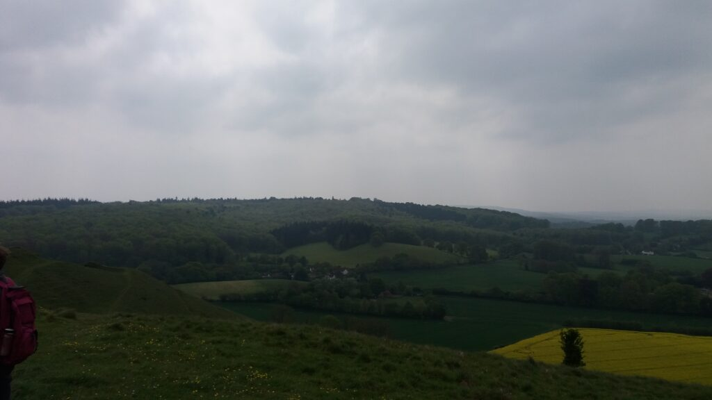 Panoramic View from the top of Cley Hill